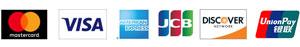 Mastercard,VISA,American Express,JCB